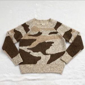 Like New Anthropologie Moth Camo Sweater